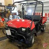 Kawasaki 3010 Mule gas 4X4 utility vehicle with ROPS, manual dump bed, 979 hrs showing