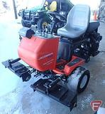 Jacobson Greens King IV tri-plex 2WD gas reel mower, with rolling head attachments, 3,913 hrs