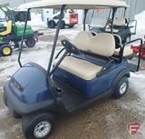 2014 Club Car Precedent electric golf car, blue with roof, rear folding seat/flatbed