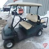 2008 Club Car Precedent gas golf car, green with roof, windshield, rear folding seat/flatbed