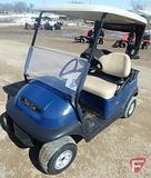 Club Car golf car, gas, blue, with top, windshield, and rain curtain SN: pr1447-517176