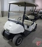EZ-GO RXV electric golf car with top and box, white, SN: 5007514
