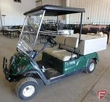 Yamaha Adventure Two gas, green, with top, lights, windshield, & beverage cart box, SN: jw7-000241