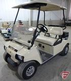 Club Car electric golf car, with windshield and top, beige, SN: aq0334-313996