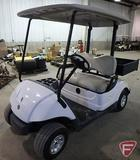 Yamaha electric golf car with box and top, white, SN: jw2-200148