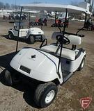 EZ-GO TXT gas golf car, with top, white, SN: 1280995