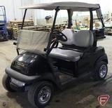 05 Club Car electric golf car, with top, black, SN: pq0538-551386