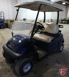14 Club Car electric golf car, with top and windshield, blue, SN: ph1404-434740