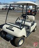 Club Car gas golf car, with top, beige, SN: ag0238-201097