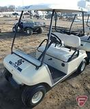 2002 Club Car DS gas golf car with top, beige, SN: ag0238-201101