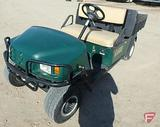 2008 EZ-GO MPT 1200 gas utility vehicle with poly box and brush grill guard, green, SN: 2615706