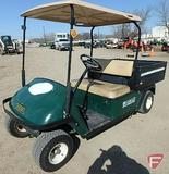 2003 EZ-GO WH 1200 gas utility vehicle with top and poly box, green, SN: 2025813