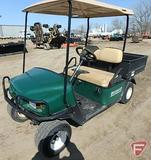 2001 EZ-GO WH 800 LX gas utility vehicle with top, brush grill guard and poly box, green