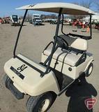 Club Car gas golf car with top, beige, SN: AG0238-201095