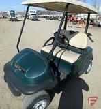 Club Car electric golf car with top, green, SN: PQ1101-165017
