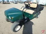 EZ-GO MPT 1200 gas utility vehicle with poly box, no end gate, green, SN: 2625994