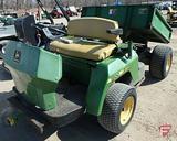 John Deere 1800 Gator gas 2WD utility vehicle, hydraulic dump, 2,498 hrs