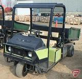 Cushman 3-wheel 2WD gas utility vehicle with hydraulic dump box, ROPS, headlights, 4,579 hrs