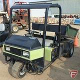 Cushman 3-wheel 2WD gas utility vehicle with hydraulic dump box, ROPS, headlights, 6,041 hrs