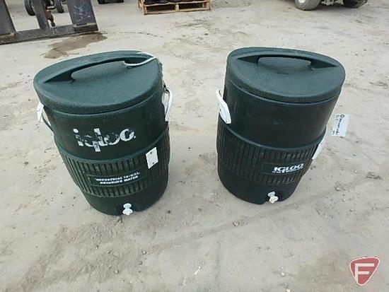(2) 10 gallon Igloo watercoolers