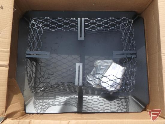 Galvanized adjustable chimney topper, powder-coated black, unused, new in box