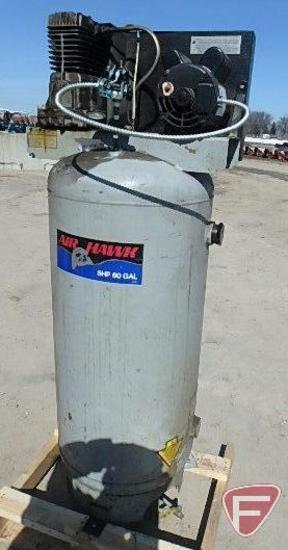 Air Hawk 5 HP 60 gallon air compressor, SN: M2035143