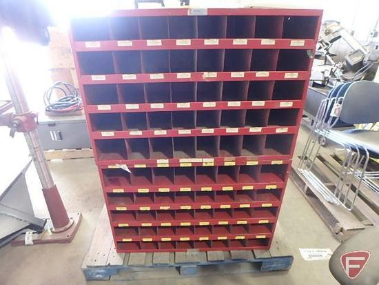 "(2) 40-compartment hardware storage organizer bins, approx. 35"" L x 12"" W x 24"" H"