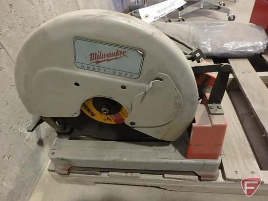 "Milwaukee heavy duty 14"" dry cut machine chop saw, cat. no. 6190-20"