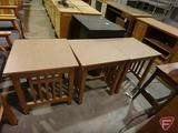 (3) wood end tables, 22