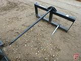 New Tomahawk HD Hay Spear Frame with single tine, Fits Universal Skid Steer, DMH-3024