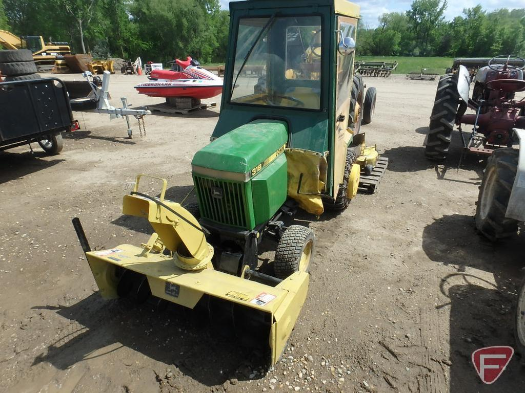 John Deere 318 gas lawn tracto    Auctions Online | Proxibid