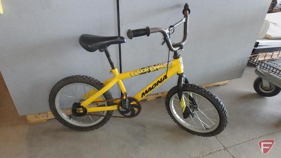 16? boy?s yellow Magna bike/bicycle