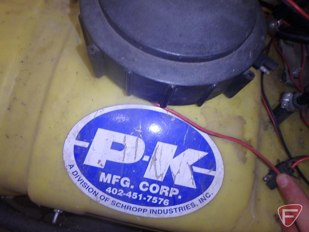 PK ATV spot sprayer with 15 gallon tank with Shurflo 12v