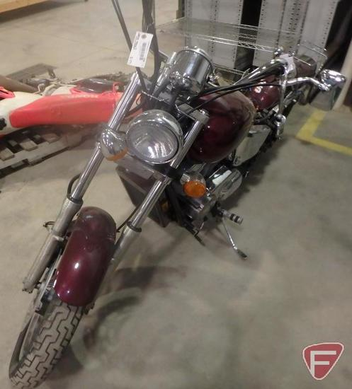 2000 Honda VT1100C Motorcycle, VIN # 1HFSC1802YA401927