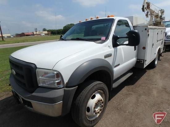 2005 Ford F-450 Mechanics Service Truck with Crane