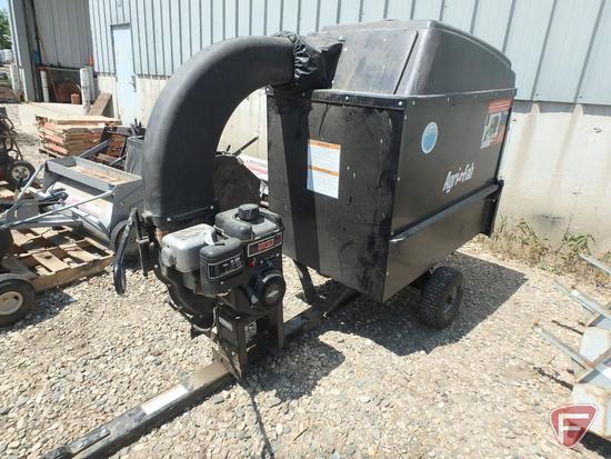 Agri Fab Mow-n-vac lawn vacuum, 26 bushel, Briggs & Stratton gas engine on single axle