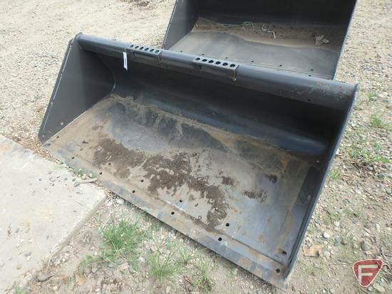 "66"" universal mount skid steer/loader attachment material bucket"