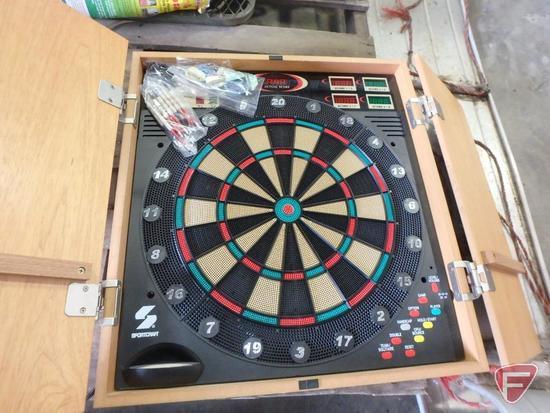 Sportcraft dart board, aluminum bobsled