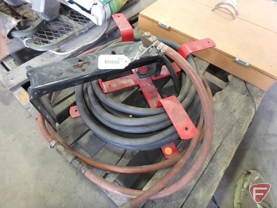 Air hose reel with hose