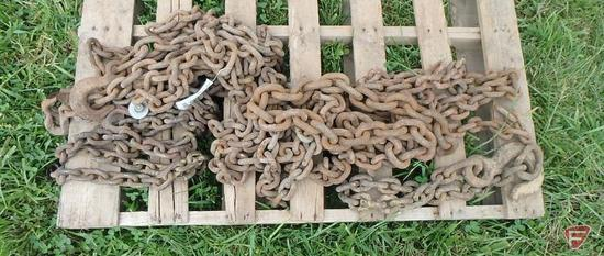 Asst of Large Log Chains with Hooks and No Hooks