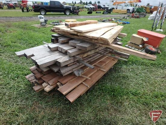Assorted rough cut lumber, various lengths and sizes