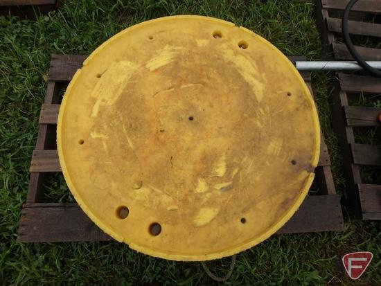 """2- 36""""' Yellow Round Crane Pads"""