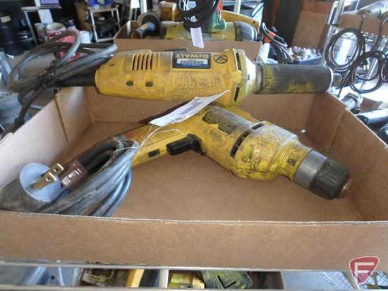 DeWalt drill and DeWalt die grinder