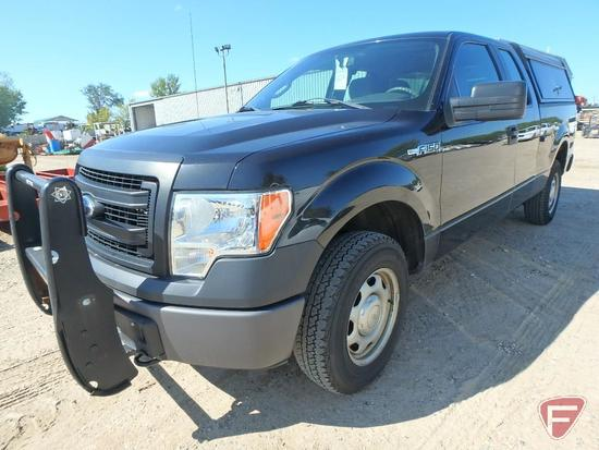 2014 Ford F-150 Extended Cab Pickup Truck With Leer Topper and Setina Push Rack