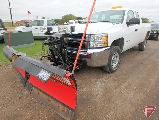 2009 Chevrolet Silverado Pickup Truck with Western Plow