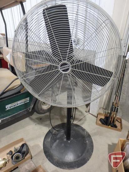 """Flowpro 2-speed 120v 30"""" pedestal shop fan"""