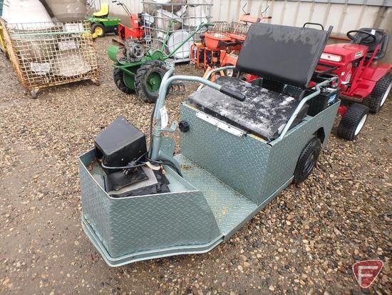 Cushman 3-wheel electric utility cart, model 898328-8810, 1288 hrs showing