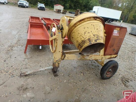 Best 6CM cement mixer on single axle with Briggs & Stratton 8hp gas engine