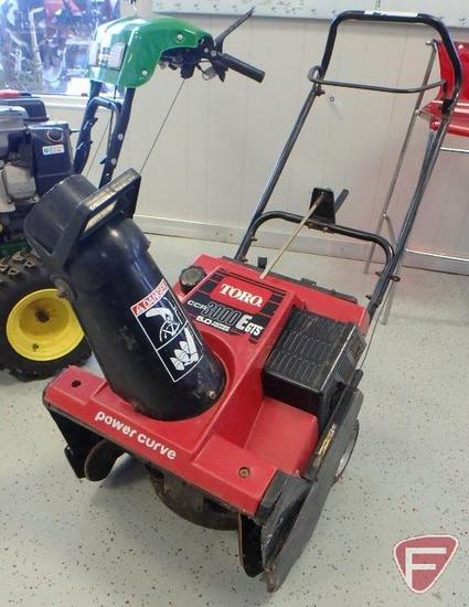 Toro CCR 3000E GTS power curve walk behind snow thrower with 5hp engine