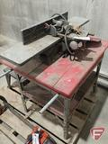 Shopmaster jointer on table and router table